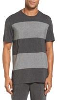Daniel Buchler Men's Stretch Stripe Crewneck T-Shirt