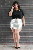 Forever 21 FOREVER 21+ Plus Size Metallic Mini Skirt