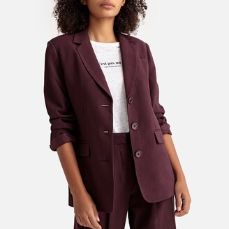 La Redoute Collections Single-Breasted Boyfriend Blazer with Pockets