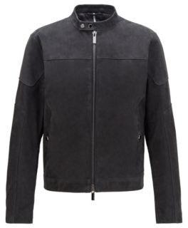 BOSS Blouson jacket in nubuck leather