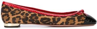 Aquazzura leopard print ballerinas