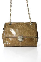 Banana Republic Brown Leather Push Lock Crossbody Handbag
