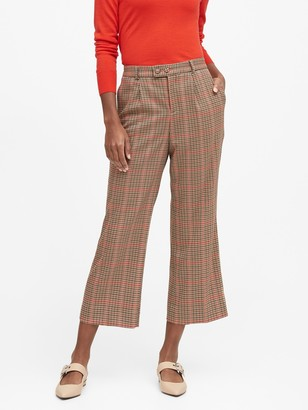 Banana Republic JAPAN EXCLUSIVE Logan Trouser-Fit Pleated Cropped Pants