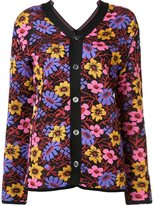 Comme des Garcons floral pattern cardigan - women - Acrylic/Wool - S