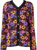 Comme des Garcons floral pattern cardigan