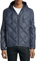 Andrew Marc Appleton Quilted Puffer Hooded Jacket, Ink