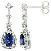 JCPenney Lab-Created Blue & White Sapphire Pear Drop Earrings