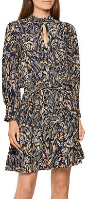 Reiss Lilia Abstract Feather Mini Dress