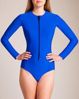 Lisa Marie Fernandez Swimwear Neoprene Farrah Long Sleeve Swimsuit