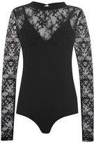 KENDALL + KYLIE Long Sleeve Lace Bodysuit