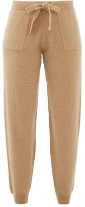 Allude Tapered-leg Wool-blend Track Pants - Womens - Camel