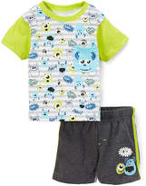 Children's Apparel Network Monsters Inc. Green Tee & Shorts - Infant