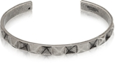 Northskull In 'n' Out Aged 925 Silver Plated Brass Cuff