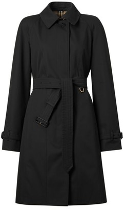 Burberry Sipson A-Line Gabardine Rain Coat