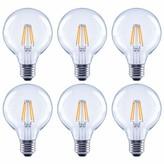 clear Wildon Homeâ® 60 Watt Equivalent G25 LED Dimmable LED Glass Globe Light Bulb 2700K E26/Medium (Standard) Base (Set of 6) Wildon HomeA