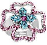 Body Candy Charismatic Crossing Flower Adjustable Ring