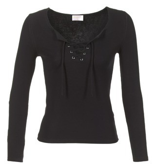 Moony Mood GREVIN women's Long Sleeve T-shirt in Black