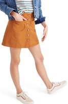 Madewell Women's Button Front Miniskirt