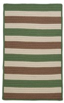 Georg Striped Green/Gray Indoor / Outdoor Area Rug Viv + Rae Rug Size: Rectangle 2' x 3'