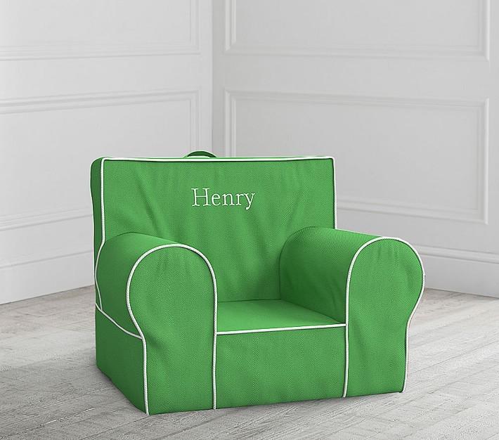 Pottery Barn Kids Green Anywhere Chair Slipcover