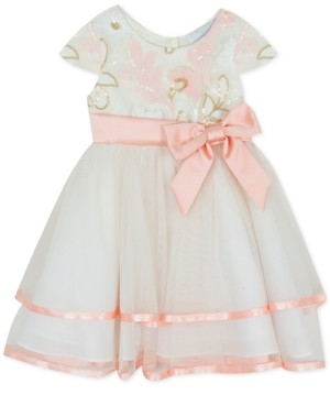Rare Editions Baby Girls Sequin Two-Tier Fit & Flare Dress