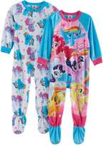 Toddler Girl My Little Pony 2-pk. Fleece Footed Pajamas