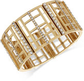 INC International Concepts M. Haskell for INC Gold-Tone Openwork and Pavé Stretch Bracelet, Only at Macy's