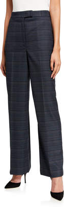 Anne Klein Bowie Plaid Extend-Tab Pants