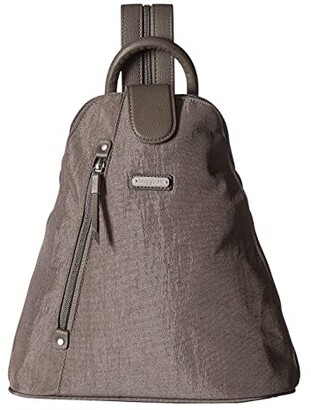 Baggallini New Classic Metro Backpack with RFID Phone Wristlet (Sterling Shimmer) Backpack Bags