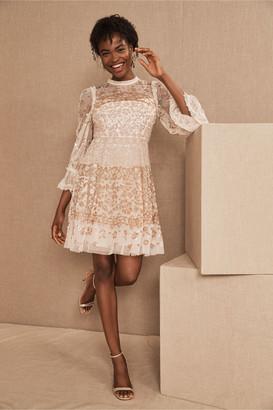Needle & Thread Patchwork Sequin Mini Dress