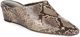 Vince Baxley Snake-Print Leather Wedge Mules