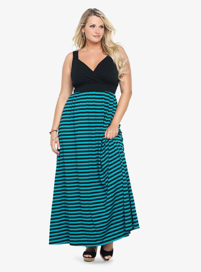 Torrid Striped Tank Maxi Dress