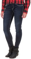 Rock & Roll Cowgirl Embroidered Pocket Skinny Jeans - Low Rise (For Women)