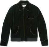 Saint Laurent - Embroidered Velvet Blouson Jacket