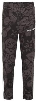 Palm Angels Side-stripe Floral-print Track Pants - Mens - Black