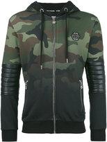 Philipp Plein biker hoodie - men - Cotton/Polyester/Polyurethane - M