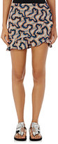 Isabel Marant Women's Luna Cotton-Linen Ruffle Miniskirt