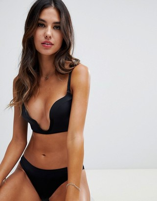 Wonderbra new ultimate plunge bra a - f cup-Black