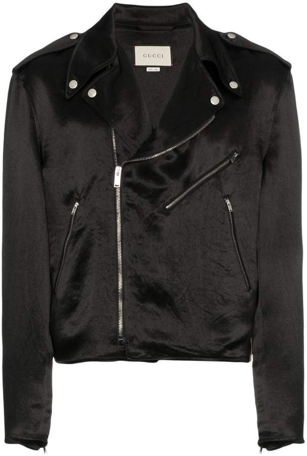 Gucci guccy japanese acetate biker jacket