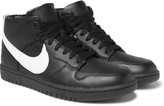 Nike - + Riccardo Tisci Dunk Lux Chukka Leather High-top Sneakers