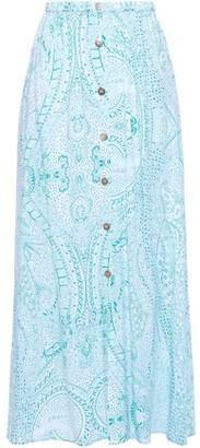 Melissa Odabash Daisy Printed Voile Maxi Skirt