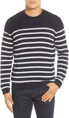 NN07 Dawson 6294 Slim Fit Stripe Alpaca Blend Crewneck Sweater