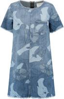 Current/Elliott The Fray Edge printed denim mini dress