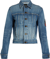 Saint Laurent Logo-patch denim jacket