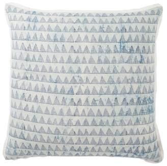 Mid-Century MODERN Jaipur Living Yonah Handmade Geometric Oversize Square Throw Pillow Blue
