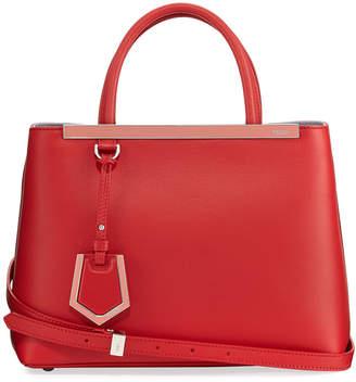 Fendi 2Jours Two-Tone Leather Satchel Bag