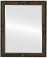 """The Oval And Round Mirror Store Jefferson Framed Rectangle Mirror in Walnut, 26""""x38"""""""