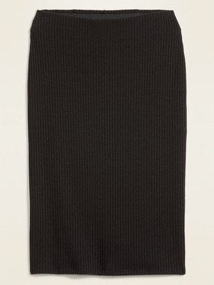 Old Navy High-Waisted Rib-Knit Pencil Midi Skirt for Women