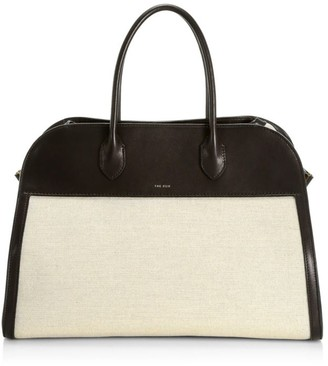 The Row Margaux 15 Canvas & Leather Satchel