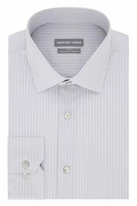 Geoffrey Beene Men's Dress Shirt Slim Fit Stretch Stripe